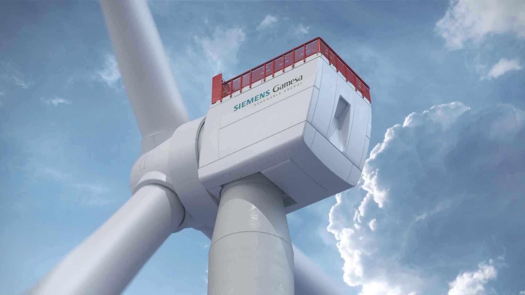 Turbina de 14 MW de Siemens Gamesa.