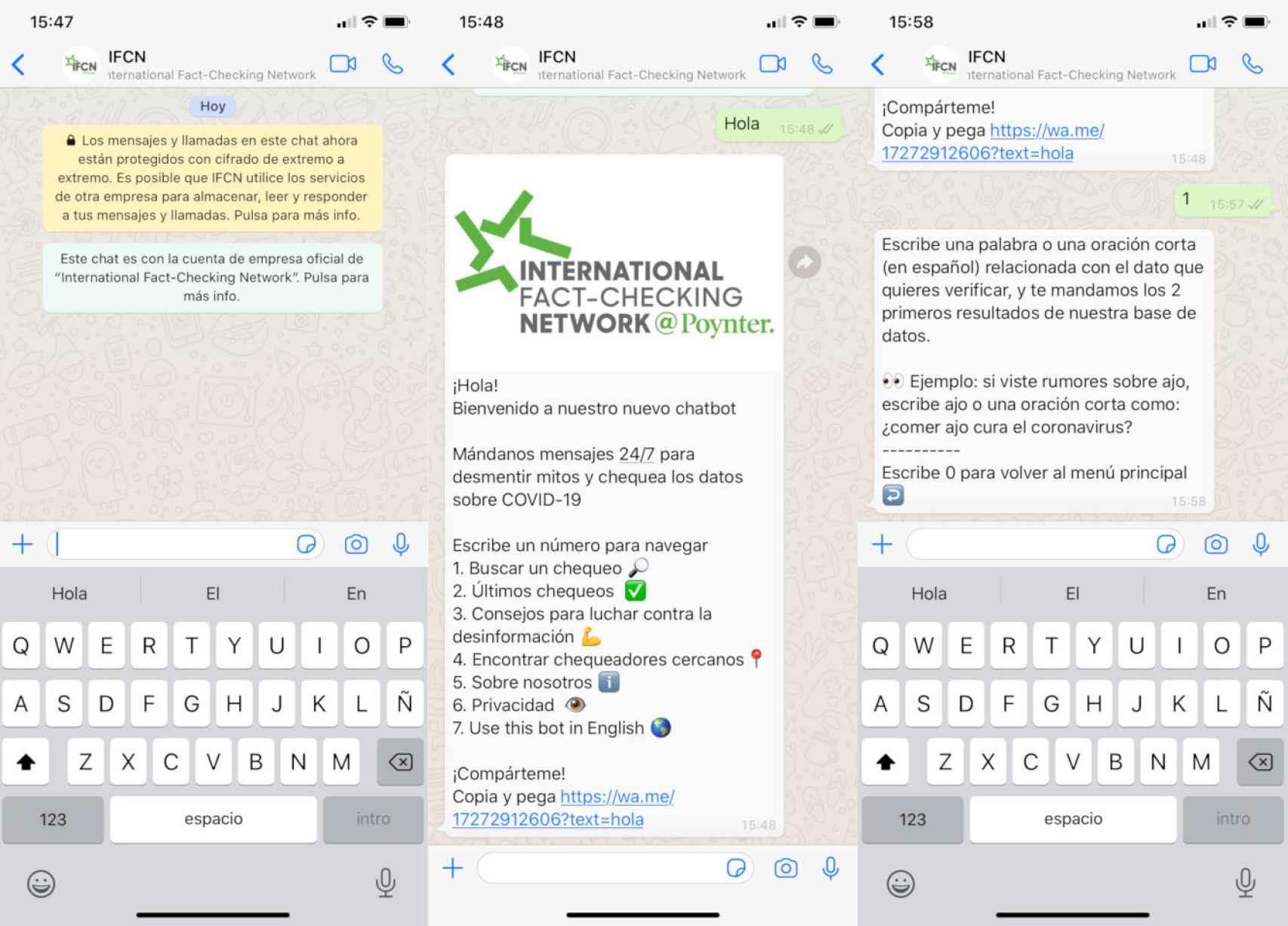 El bot de WhatsApp que busca y responde a los bulos