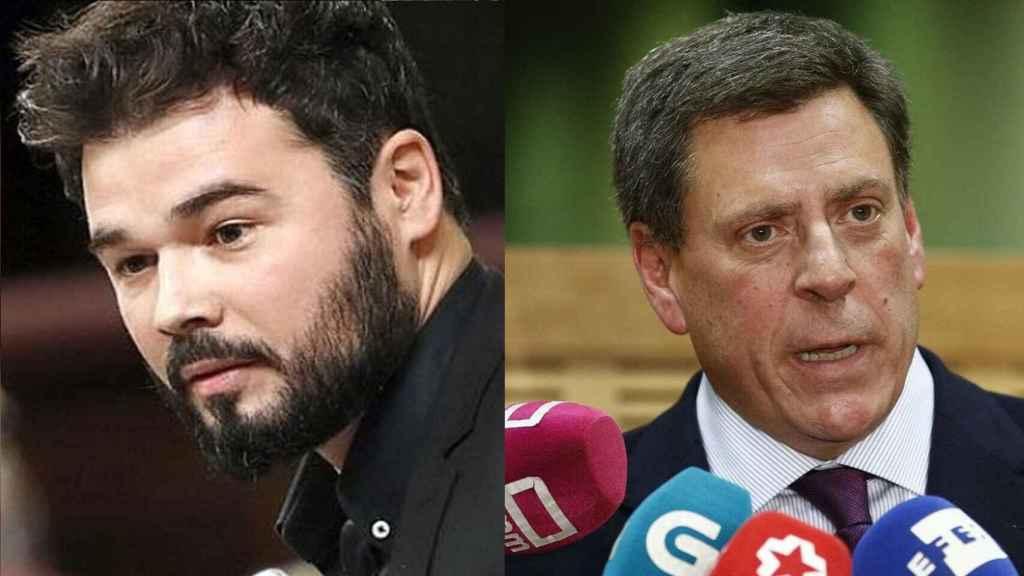 Gabriel Rufián y Juan Carlos Quer en un fotomontaje