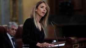 Cayetana Álvarez de Toledo en la tribuna de oradores del Congreso de los Diputados.