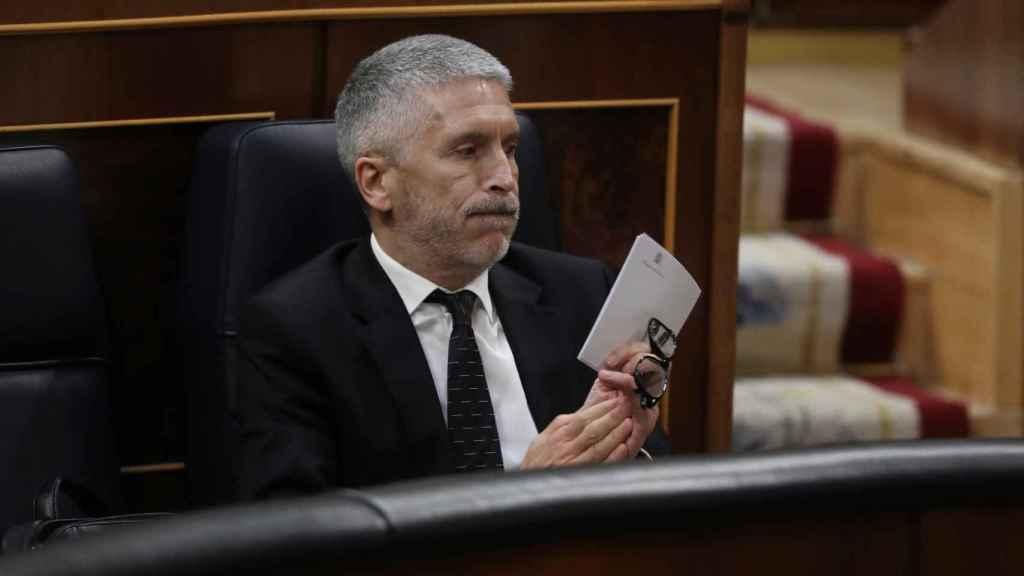 Fernando Grande-Marlaska, ministro del Interior, este miércoles en el Congreso.