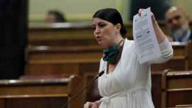 Macarena Olona, durante la sesión de control al Gobierno.