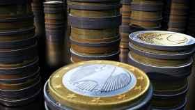Monedas de euro en una imagen de archivo.