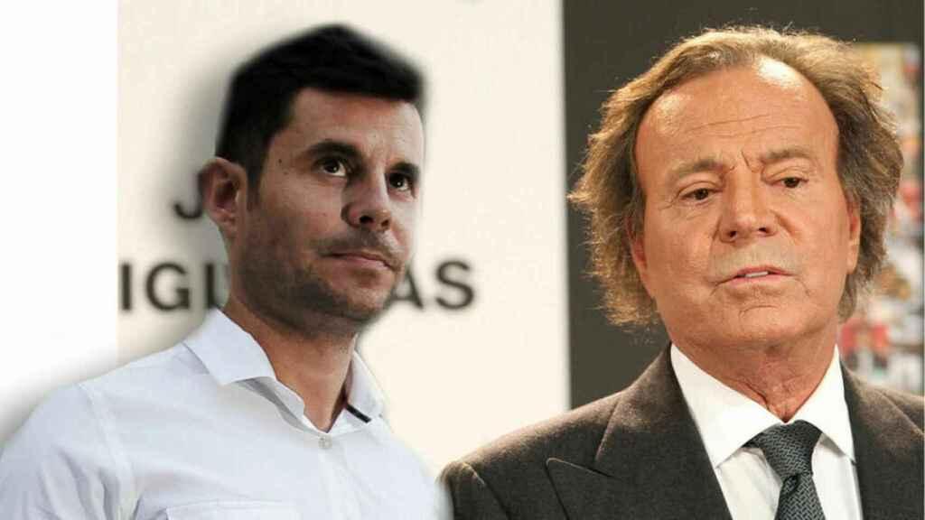 Javier Santos y Julio Iglesias en montaje de JALEOS.