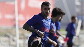 Ángel Correa, durante un entrenamiento del Atlético de Madrid