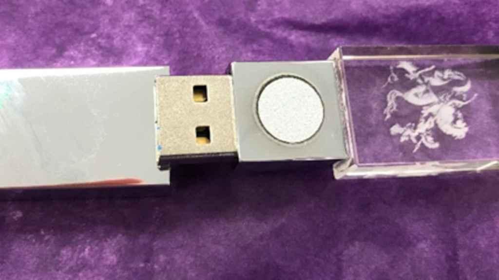 5GBioShield es una simple memoria USB con una pegatina