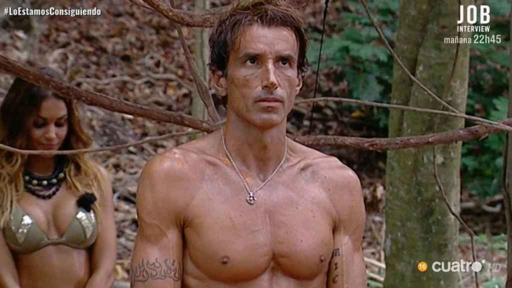 Hugo Sierra durante su participación en 'Supervivientes'.