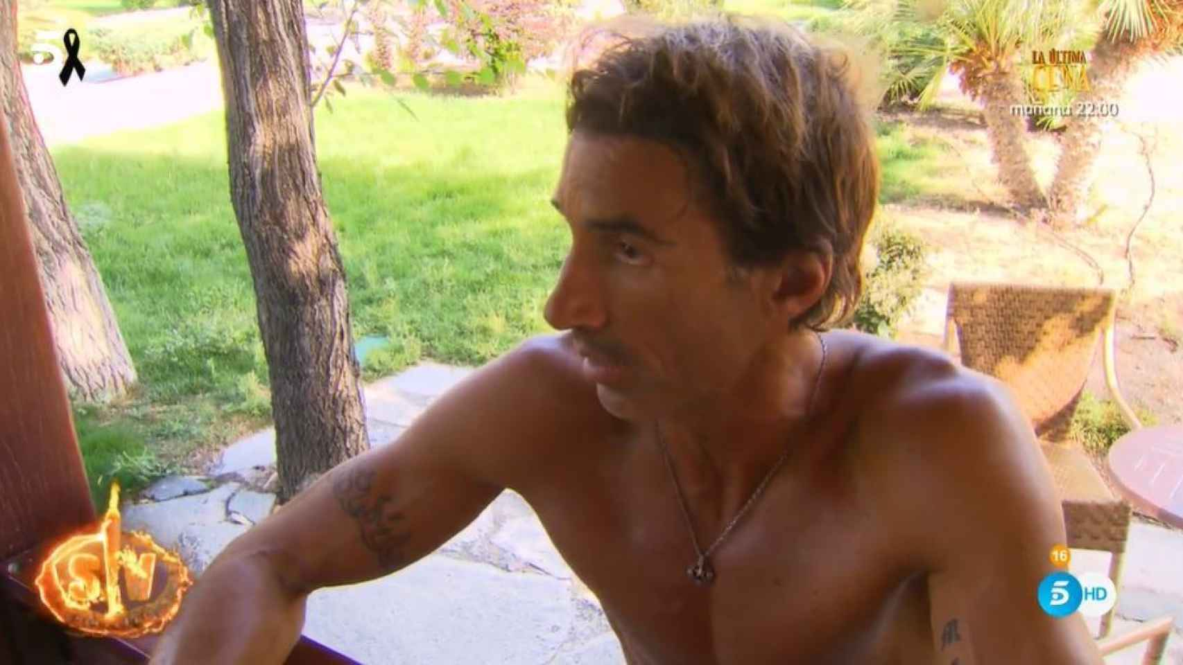 Hugo Sierra durante la última emisión de 'Supervivientes'.