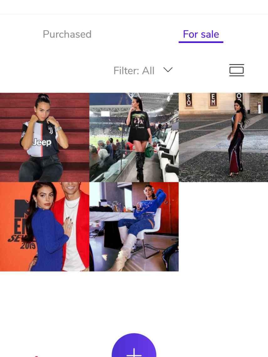 Captura de la venta de las prendas de Georgina en la aplicación.