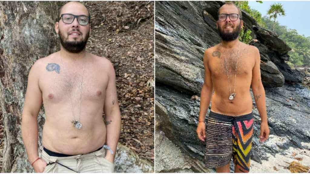 El antes y el después de José Antonio Avilés.