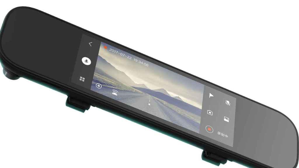 Espejo retrovisor inteligente de Xiaomi.