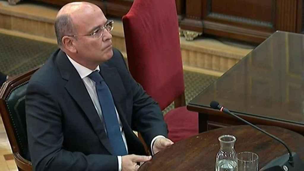 El coordinador policial del 1-O, Diego Pérez de los Cobos, en el salón de plenos del Tribunal Supremo