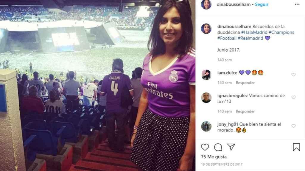 Dina Bousselham es fan declarada del Real Madrid.