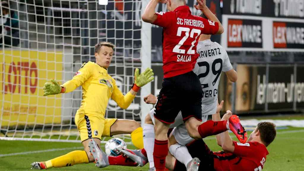 Kai Havertz marca el gol de la victoria del Bayer Leverkusen ante el Friburgo