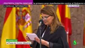 La polemista María Claver.