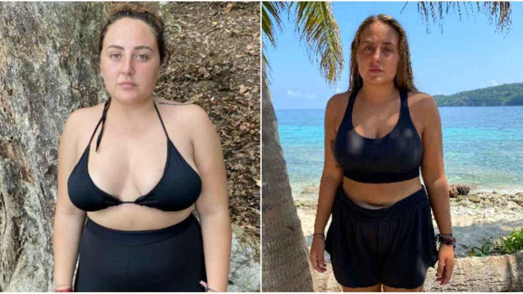El antes y el después de Rocío Flores.