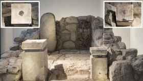 Reconstrucción de la cella del santuario judaico de Arad.