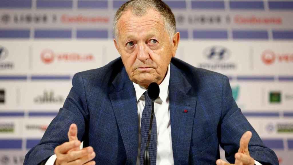 Jean Michel Aulas, presidente del Olympique de Lyon