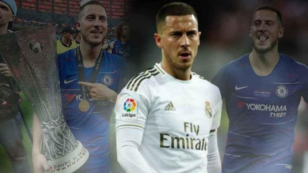 Eden Hazard con el Real Madrid y el recuerdo de la Europa League de su último año con el Chelsea