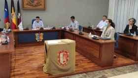 Un instante del pleno municipal celebrado en Campo de Criptana (Ciudad Real)