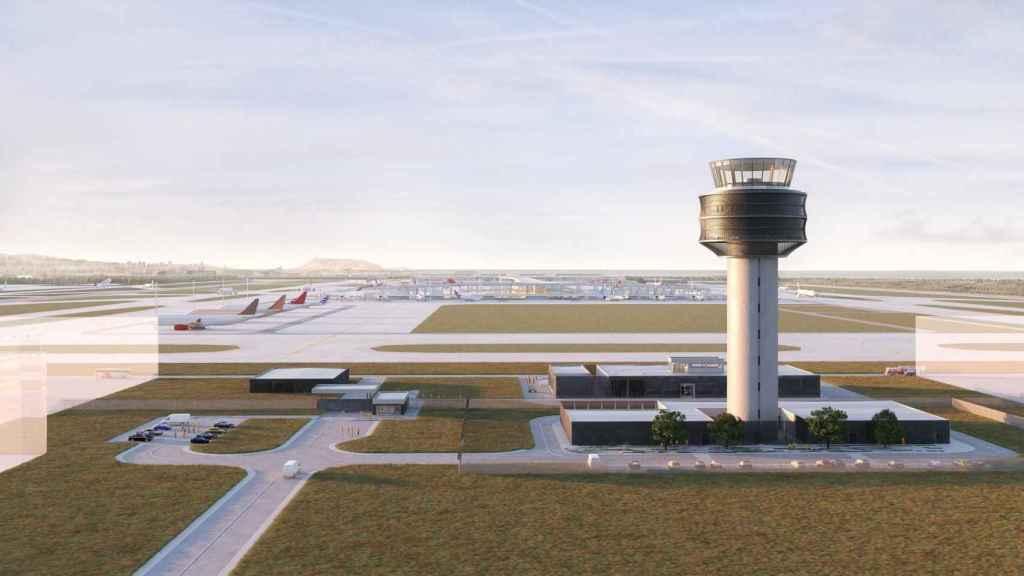 Diseño de la torre de control que Ferrovial construirá en Lima.