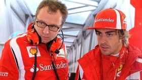 Domenicali y Fernando Alonso, en su etapa en Ferrari