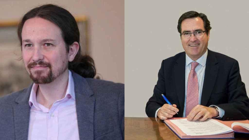 Pablo Iglesias y Antonio Garamendi.
