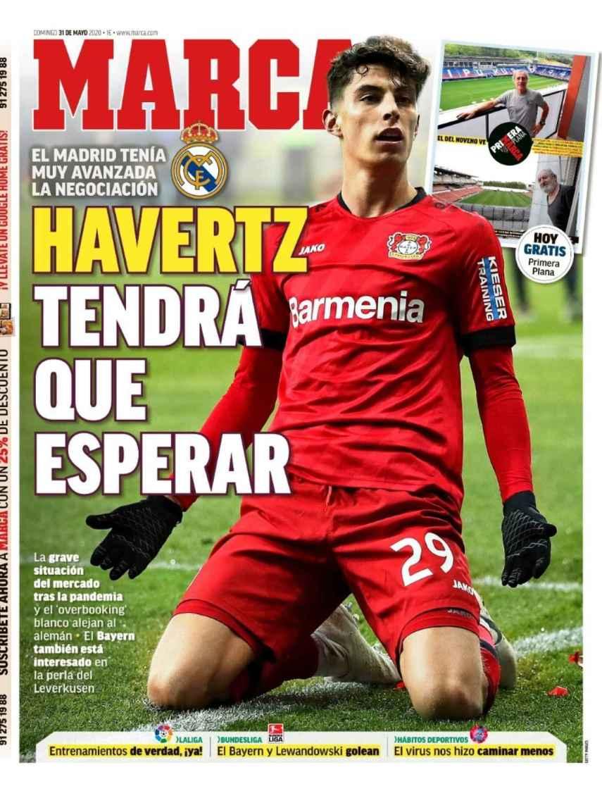 La portada del diario MARCA (31/05/2020)