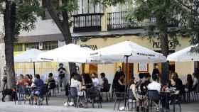 Unas terrazas de Madrid abiertas al público.