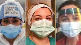 Las sanitarias Marina, Cyntia y Laura.