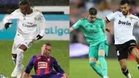 Vinicius sortea a un jugador del Eibar y Fede Valverde supera a Ezequiel Garay