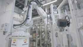 Uno de los robots en la factoría de Repsol.