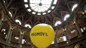 FILE PHOTO: A balloon with the MasMovil logo as the company makes its stock market debut in Madrid