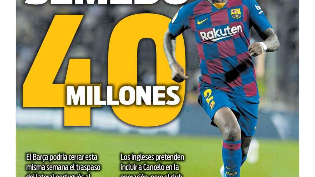 La portada del diario SPORT (01/06/2020)