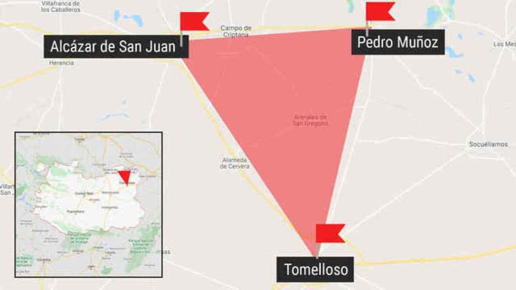 El triángulo del coronavirus en Castilla-La Mancha.