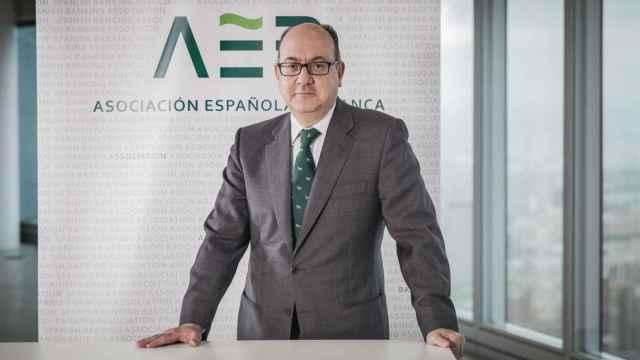 El presidente de la Asociación Española de Banca (AEB), José María Roldán.