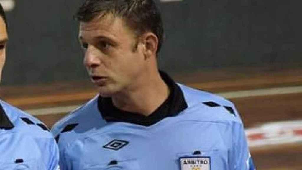 Andrés Pollero, durante un partido
