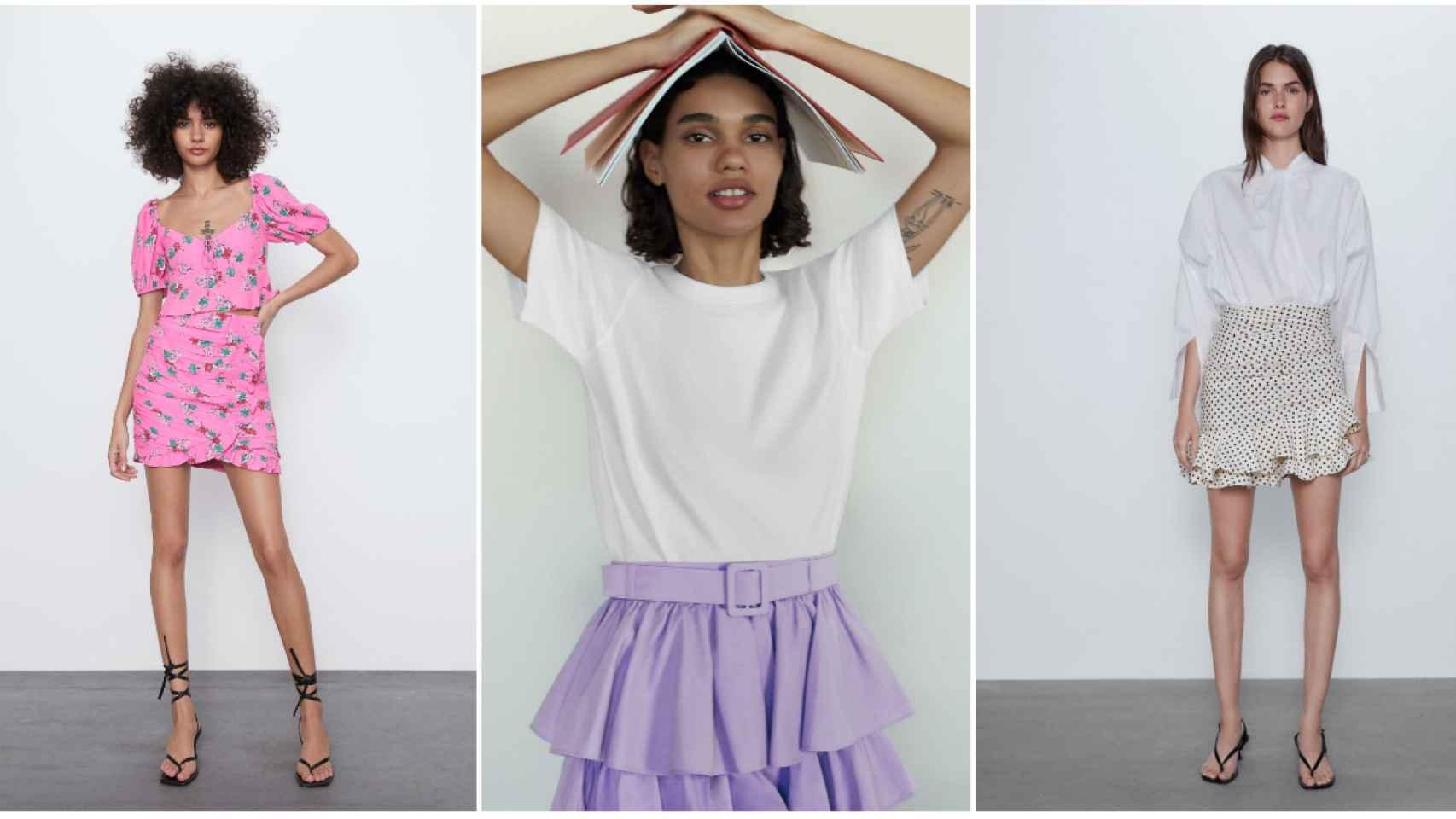 Estas son algunas de las minifaldas de Zara.