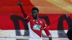 El futbolista Keita Baldé, durante un partido con el AS Mónaco
