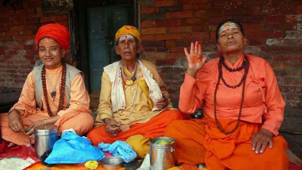 Tres mujeres nepalíes.
