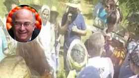 Así fue la fiesta de besos y abrazos del curandero Pàmies con 100 personas sin mascarilla en Lérida
