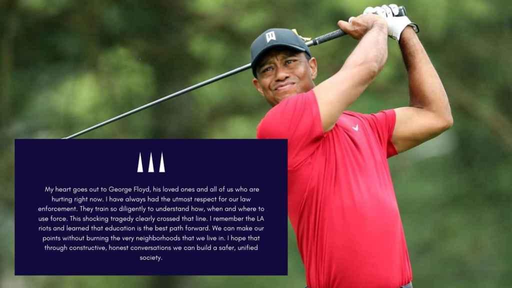 Tiger Woods y su mensaje por el fallecimiento de George Floyd