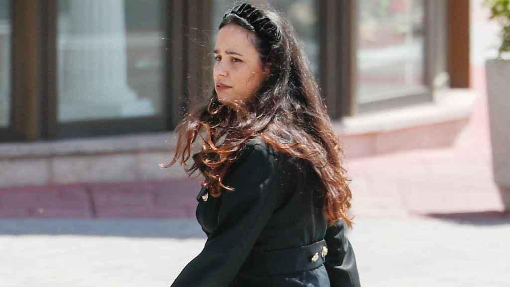 Carolina Monje, el día del último adiós a Álex Lequio.