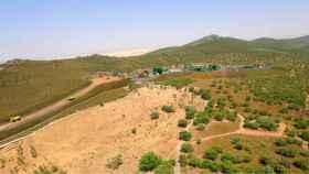 Recreación de la mina de San José de Valdeflórez.