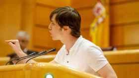 El senador autonómico de Más Madrid Eduardo Rubiño este martes en el Senado.