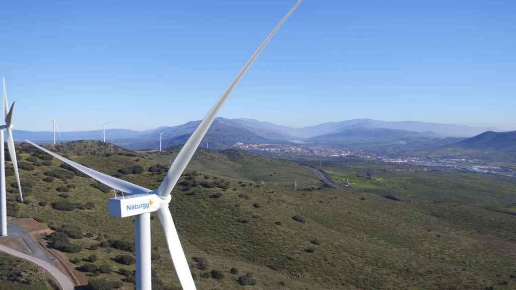 Parque eólico Merengue de Naturgy en Extremadura.