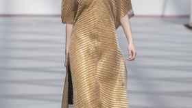 Una modelo desfilando en la Bridal Week de Madrid.