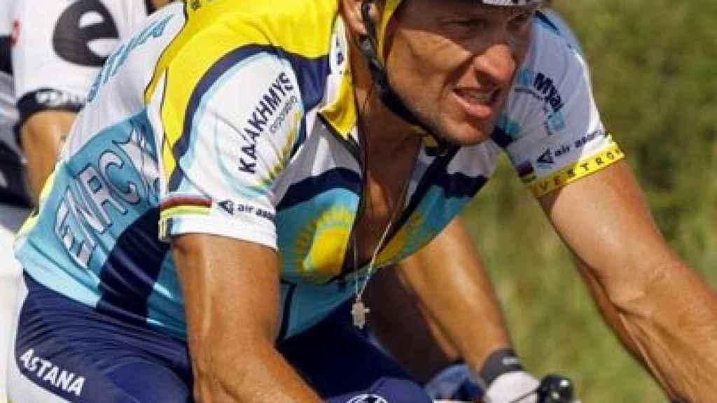 Lance Armstrong, en 2009 con Astaná
