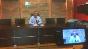 Jesús Martín, alcalde de Valdepeñas, en rueda de prensa
