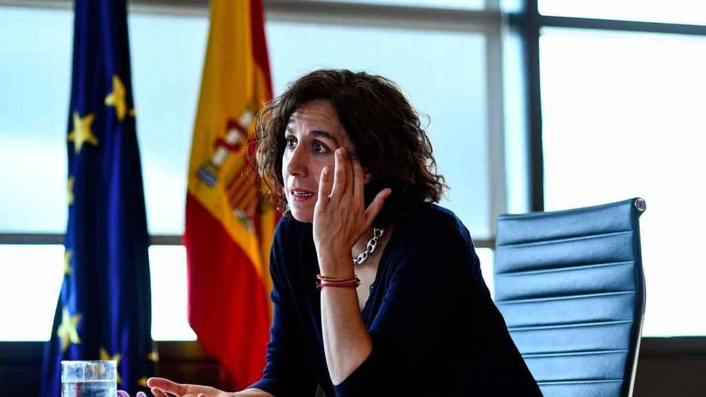 Irene Lozano, durante una reunión